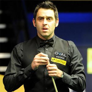Ronnie O'Sullivan in action against Judd Trump, during the Betfair World Championships at the Crucible