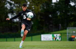 RIGHT CHOICE: John Egan during a Republic of Ireland training session at the FAI National Training Centre in Abbotstown. Photo: Stephen McCarthy/Sportsfile