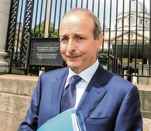 Challenge: Fianna Fáil leader Micheál Martin at Government Buildings during talks on a programme for government. Photo: Gerry Mooney