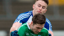 Fermanagh's Eoin Donnelly in action against Monaghan's Fintan Kelly. Photo:  Philip Fitzpatrick/Sportsfile
