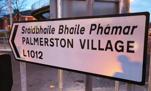 A Palmerston Sign.
