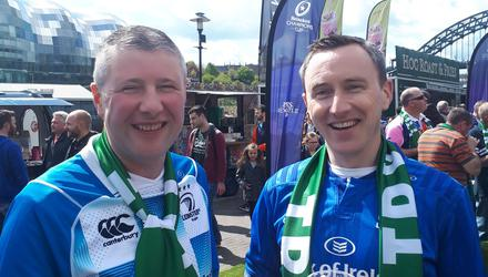 L to R: Leinster fans Aidan Dillon and Michael Carolan from Co Meath