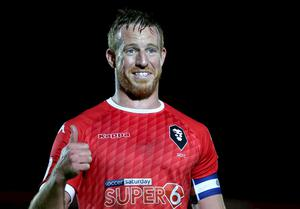 Adam Rooney has moved from Salford City to Solihull Moors but has yet to meet his new team-mates. Photo by Charlotte Tattersall/Getty Images