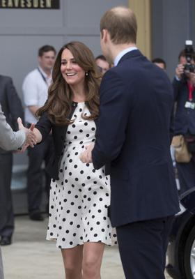 WATFORD, ENGLAND - APRIL 26:  The Duke of Cambridge, Prince William, The Duchess of Cambridge, Catherine Middleton and Prince Harry attend the inauguration, and make an official visit at Warner Bros, Leavesden Studio, London on April 26, 2013 in Watford, England.  (Photo by Julian Parker/UK Press via Getty Images)