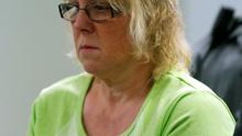 Joyce Mitchell, suspected of having smuggled contraband into the prison where convicts Richard Matt and David Sweat escaped last weekend, is arraigned in City Court in Plattsburgh, New York June 12, 2015. REUTERS/Mike Groll/Pool