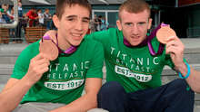 Michael Conlon and Paddy Barnes met one of tennis' all time greats today in Rio