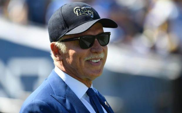 Stan Kroenke watches the LA Rams, his American football team CREDIT: USA TODAY