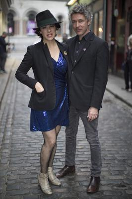 Aidan Gillen with Camille O'Sullivan at the Rock Against Homelessness concert at the Olympia