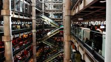 The interior of Lloyd's of London, the centuries-old insurance market, is pictured in the City of London yesterday Photo: Getty