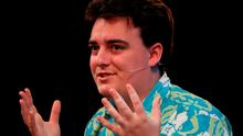 Palmer Luckey, founder of Oculus VR, speaking at the three day Web Summit at the RDS in Dublin. Niall Carson/PA Wire