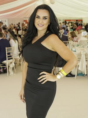 Maria Everett pictured at the 150th Dubai Duty Free Irish Derby at the Curragh Racecourse on Saturday 27th June. Photo Anthony Woods.