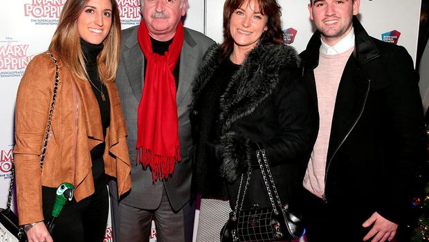 Jess Whelan, Marty Whelan, Maria Whelan and Thomas Whelan at the red carpet opening night of Mary Poppins at The Bord Gais Energy Theatre Dublin.  Picture: Brian McEvoy