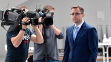 Mystery: Prosecutor Hans Christian Wolters at a press conference on the Madeleine McCann case in Germany. Photo: AP