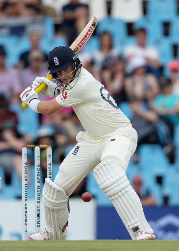 England's captain Joe Root yesterday during the first test against South Africa at Centurion Park, Pretoria. Photo: Themba Hadebe/AP