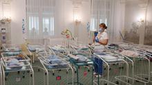 At least fifty babies born to surrogate mothers are stranded in a Ukrainian clinic as the coronavirus disease lockdown prevents their foreign parents from collecting them REUTERS/Gleb Garanich