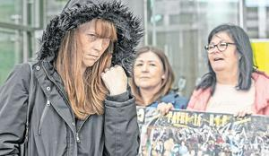 Patricia O'Connor's daughter Louise O'Connor passes Patricia's friends at the Central Criminal Court