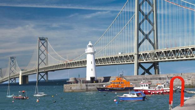 How a bridge from the North to Scotland might look. Picture: Belfast Telegraph