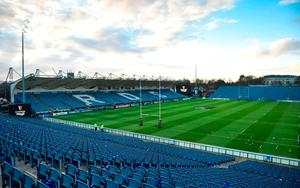 A general view of the pitch prior to the Guinness PRO14 Round 13 match between Leinster and Ulster at the RDS Arena in Dublin. Photo by David Fitzgerald/Sportsfile