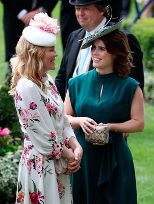 Autumn Philips (left) and Princess Eugenie of York during day three of Royal Ascot at Ascot Racecourse=