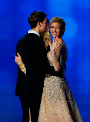 Ivanka Trump and husband Jared Kushner dance at the Freedom Inaugural Ball at the Washington Convention Center January 20, 2017