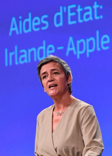 Ruling: Competition Commissioner Margrethe Vestager issued the ruling in 2016, which lawyers for Apple and Ireland are battling against. Picture: AFP