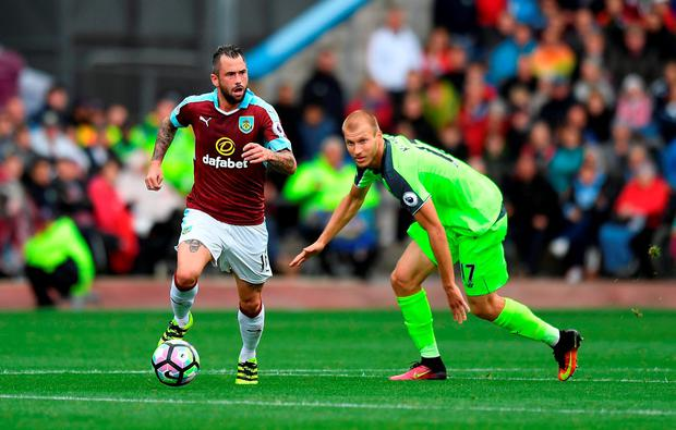 Liverpool's Ragnar Klavan in action against Burnley
