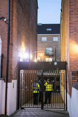 Scene of the fatal stabbing of a female in an apartment block Dorset Square on Gardiner St Dublin. Photo: Kyran O'Brien