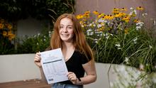 Elizabeth Dorr who received seven H1's in her leaving cert Pic:Mark Condren 7.9.2020