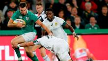 Ireland's Jared Payne is tackled by South Africa's Willie le Roux