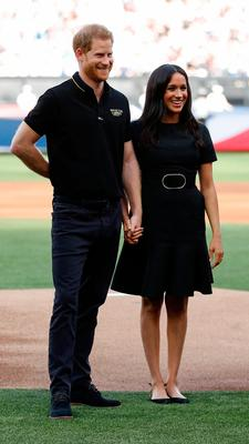 Prince Harry, Duke of Sussex and Meghan, Duchess of Sussex attend the  Boston Red Sox vs New York Yankees baseball game at London Stadium on June 29, 2019 in London, England. The game is in support of the Invictus Games Foundation. (Photo by Peter Nicholls - WPA Pool/Getty Images)