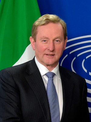Enda Kenny is set to meet Trump on the first day of the new travel ban. Photo: Reuters