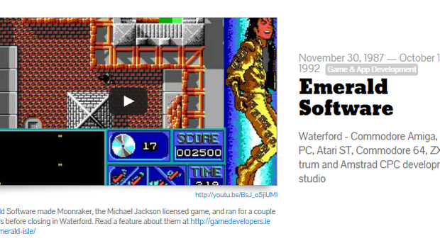 Emerald Software were developing games in Ireland in the late 80s