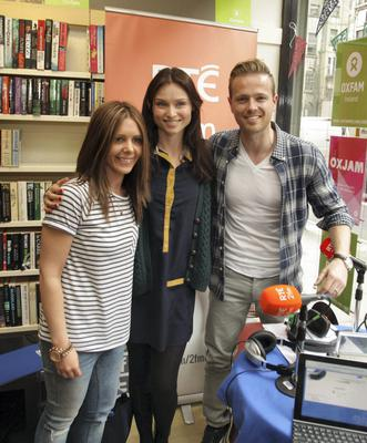 11/06/14 Sophie Ellis-Bextor pictured at the Nicky Byrne & Jenny Greene Show to launch 2fm's Play the Picnic on Oxfam Georges St,DublinÉ Pic Stephen Collins/Collins Photos