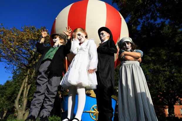 Sienna Castro Darcy, Eric Moore, Fiadh Mae Walsh and Nathan McCabe launch the Bram Stoker Festival