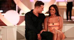 Curtis Pritchard and Maura Higgins in fourth place on Love Island. Picture: Matt Frost/ITV/REX