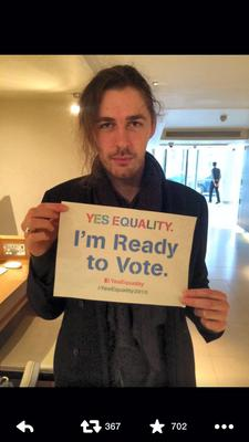 Hozier encouraging people to register to vote ahead of the gay marriage referendum