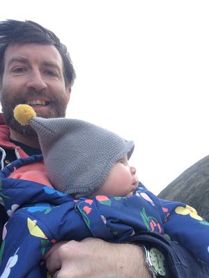 Island life: Colm O'Regan and baby both loved Achill
