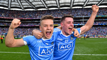 2 September 2018; Eoin Murchan, left, and Brian Howard of Dublin celebrate following the GAA Football All-Ireland Senior Championship Final match between Dublin and Tyrone at Croke Park in Dublin. Photo by Seb Daly/Sportsfile