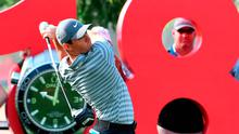 Rory McIlroy of Northern Ireland during the round one of the Dubai Desert Classic Golf Championship