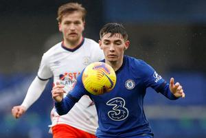 Chelsea's Billy Gilmour brings the ball under control. Photo: Reuters