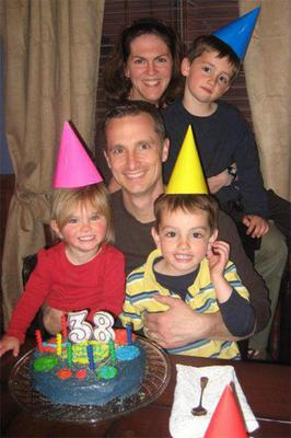 Tragic Martin Richard (8), front, with sister Jane (5), who lost her leg; brother Henry (12), mum Denise, who suffered head injuries; and dad Bill