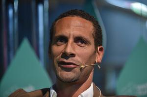 5 November 2014; Rio Ferdinand, QPR footballer and Ambassador, BT Sport, on the sport stage during Day 2 of the 2014 Web Summit in the RDS, Dublin, Ireland. Picture credit: Brendan Moran / SPORTSFILE / Web Summit