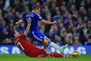 Chelsea's Cesar Azpilicueta and West Bromwich Albion's Graham Dorrans battle for the ball. Photo credit: Nick Potts/PA Wire