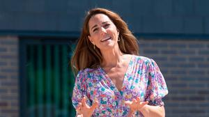 Kate Middleton in a floral summer dress. Photo: Getty Images
