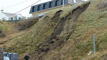 The landslide in Ballybunion, Co Kerry. BILLY HORGAN/EYE FOCUS