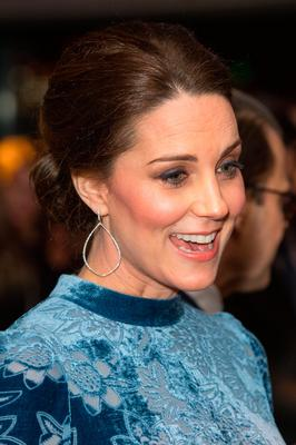 Kate Middleton attends a reception at the Fotografiska Galleries in Stockholm on Day 2 of the Duke and Duchess of Cambridge's visit to Sweden. Photo: Dominic Lipinski/PA Wire
