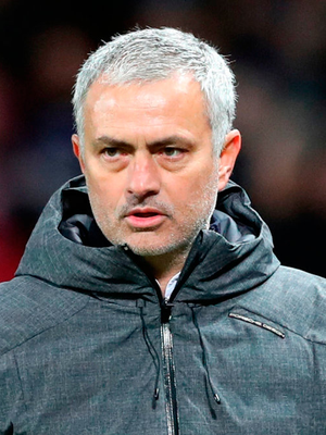 """'The latest to be in Mourinho's firing line are the Premier League who, it seems, have been added to a Trumpian list of """"enemies"""" because they fixed yesterday's United game for midday rather than tonight.' Photo credit: Martin Rickett/PA Wire"""