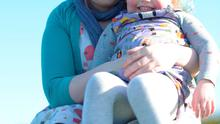 Feeding woes: Niamh Hassell and baby Siofra.