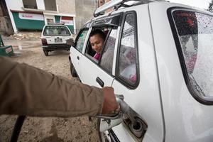 Fuel is in short supply after the earthquake hit Nepal. Pic:Mark Condren