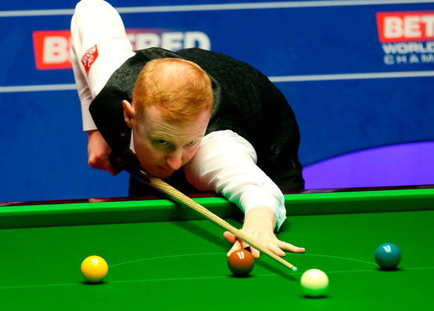 Anthony McGill on his way to beating Ryan Day in the 2018 Betfred World Championship at The Crucible. Phot: Tim Goode/PA